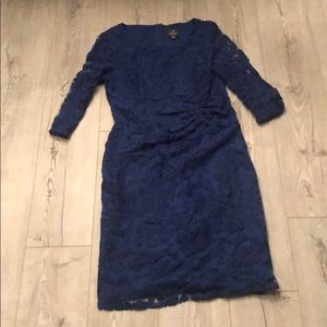 Blue Lace Adrianna Papell Dress Size 14